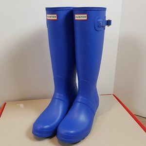 Hunter Original Tall Rainboots Cobalt Blue Size 11
